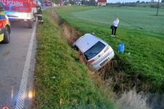 07.10.2020 | Siedlce - samochód wypadł z jezdni