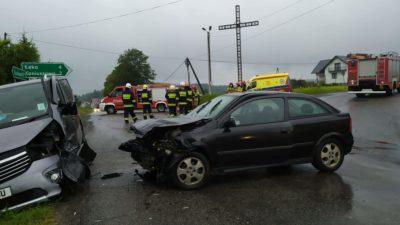 Mogilno – zderzenie dwóch  samochodów  osobowych