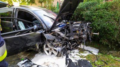 Mogilno – samochód wypadł z jezdni