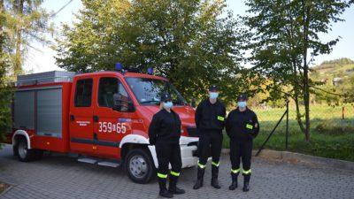 Próbna ewakuacja Szkoły Podstawowej w Koniuszowej