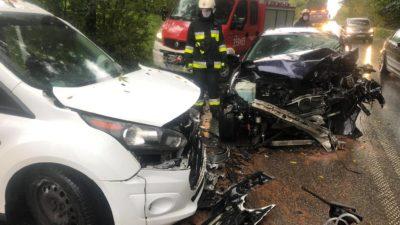 Librantowa – zderzenie dwóch samochodów osobowych