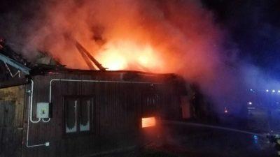 Lipnica Wielka – pożar budynku mieszkalnego