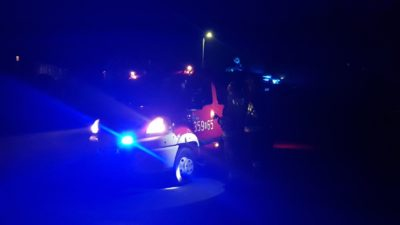 Łęka – samochód osobowy wypadł z drogi