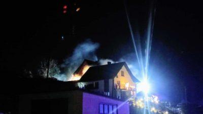 Posadowa Mogilska – pożar bydynku gospodarczego