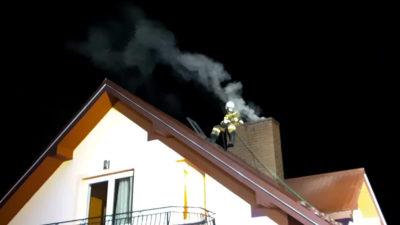 Koniuszowa – pożar sadzy w przewodzie kominowym